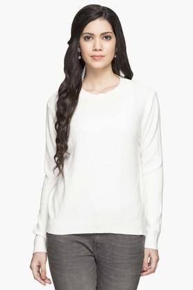 GIPSYWomens Round Neck Slub Sweater - 203397664