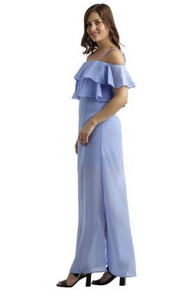 Womens Solid Maxi Dress