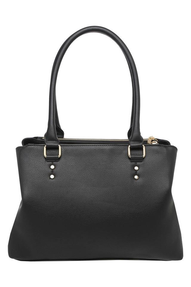 Womens Zip Closure Tote Handbag