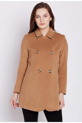 COVER STORYWomens Solid Casual Trenchcoat