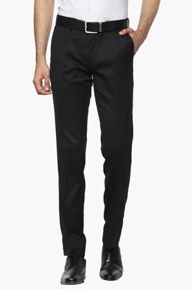 Mens 4 Pocket Slub Formal Trousers (Presidentia)