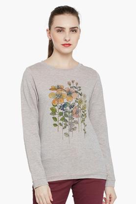 RAREWomens Round Neck Printed Sweatshirt