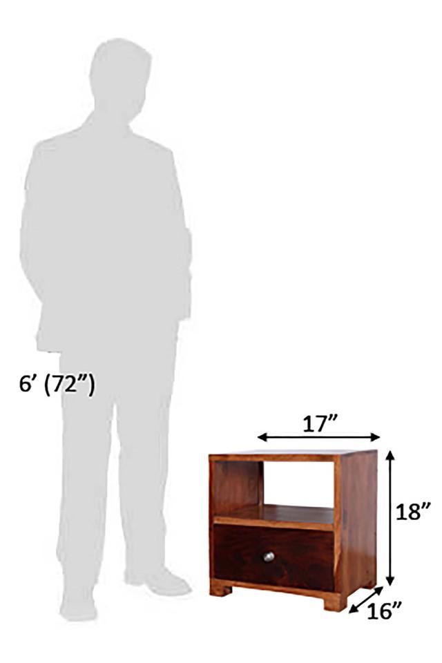 Brown Stefani Bed Side Table