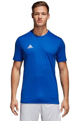 ADIDAS Mens Regular Fit Round Neck Solid T-Shirt