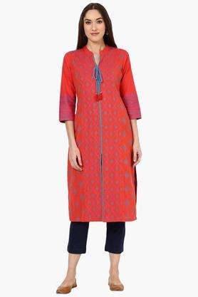 RANGRITI Womens Straight Poly Cotton Kurta - 202255884