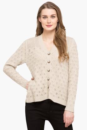 APSLEYWomens V Neck Knitted Cardigan