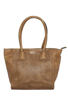 E2O Womens Zipper Closure Satchel Handbag