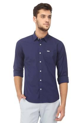 Mens Regular Fit Solid Casual Shirt