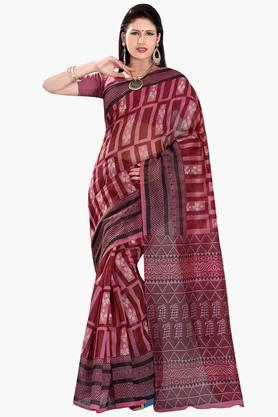 DEMARCA Womens Cotton Blend Printed Saree - 203229482
