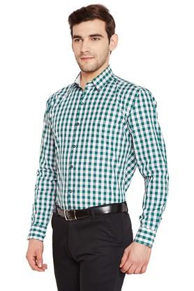 Mens Slim Fit Checked Formal Shirt