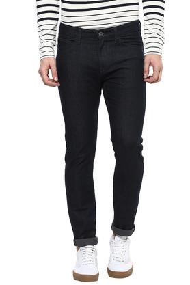Mens Slim Fit 5 Pockets Coated Jeans
