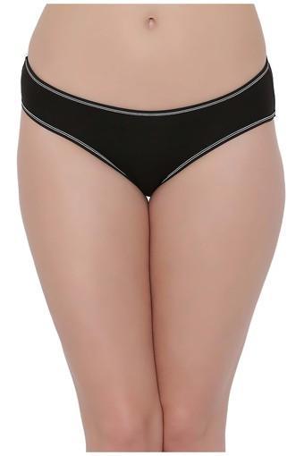 Womens Low Waist Solid Bikini Briefs
