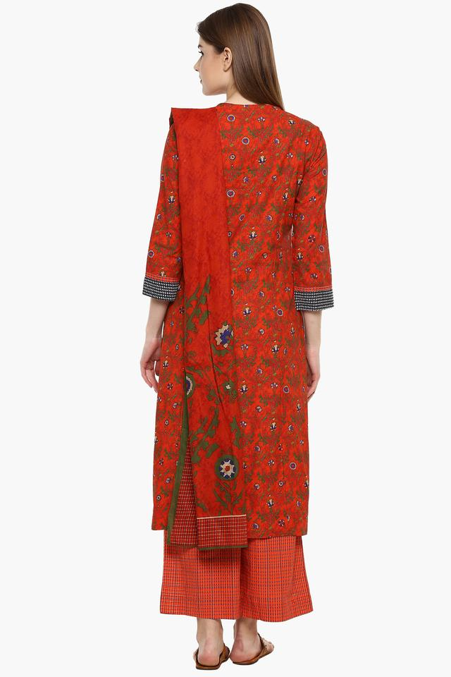 Womens V- Neck Printed Palazzo Suit