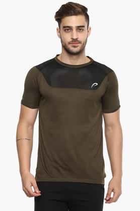 PROLINE Mens Round Neck Colour Block T-Shirt