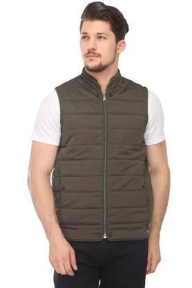 VAN HEUSEN SPORTMens Zip Through Neck Solid Quilted Reversible Jacket