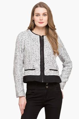 LATIN QUARTERSWomens Round Neck Knitted Jacket
