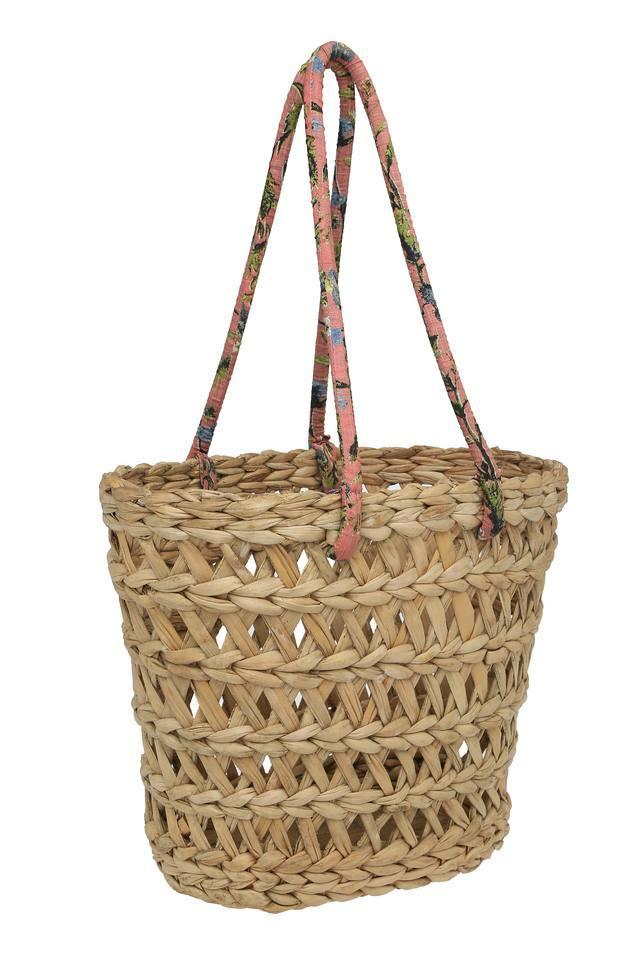 Woven Basket with Handle