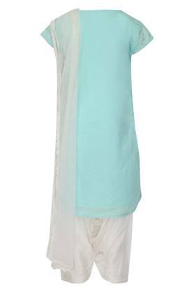 Girls Round Neck Embellished Salwar Suit