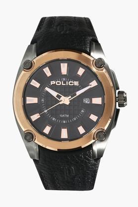 Mens Analogue Leather Watch - PL13891JSUR02