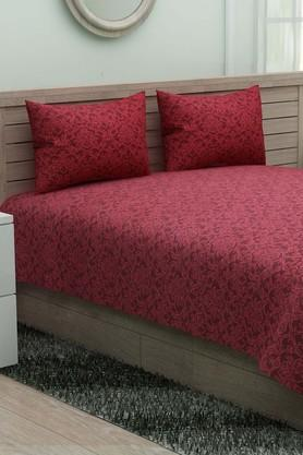 IVYPrinted Double Bedsheet With 2 Pillow Covers - 203966367_9654