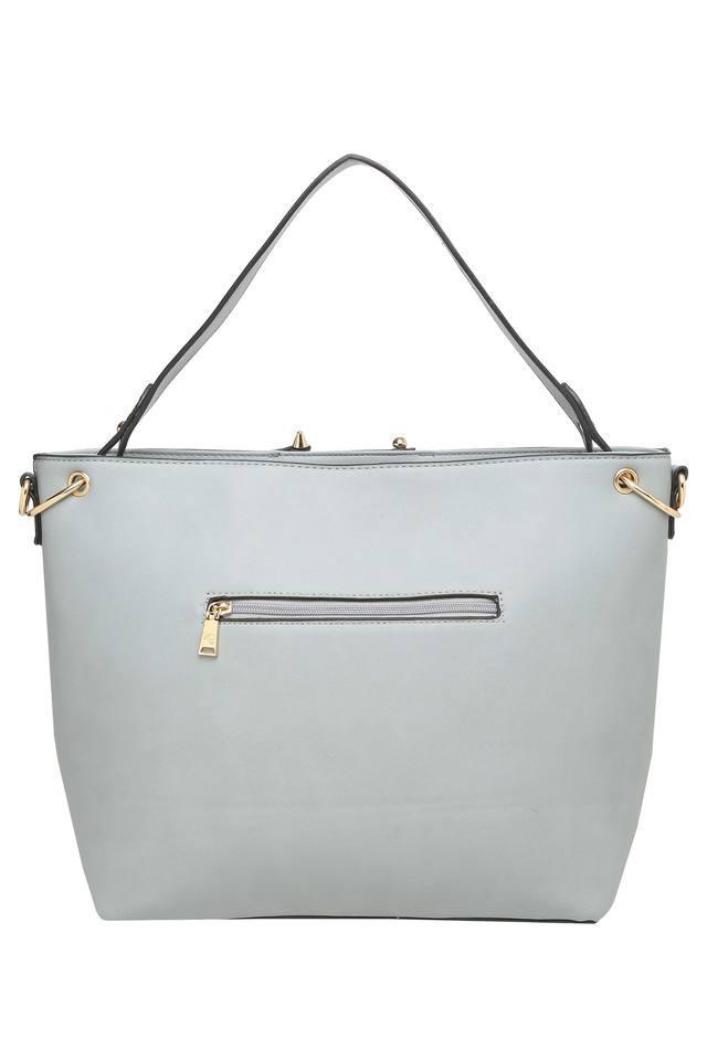 Womens Zip Closure Tote Handbag
