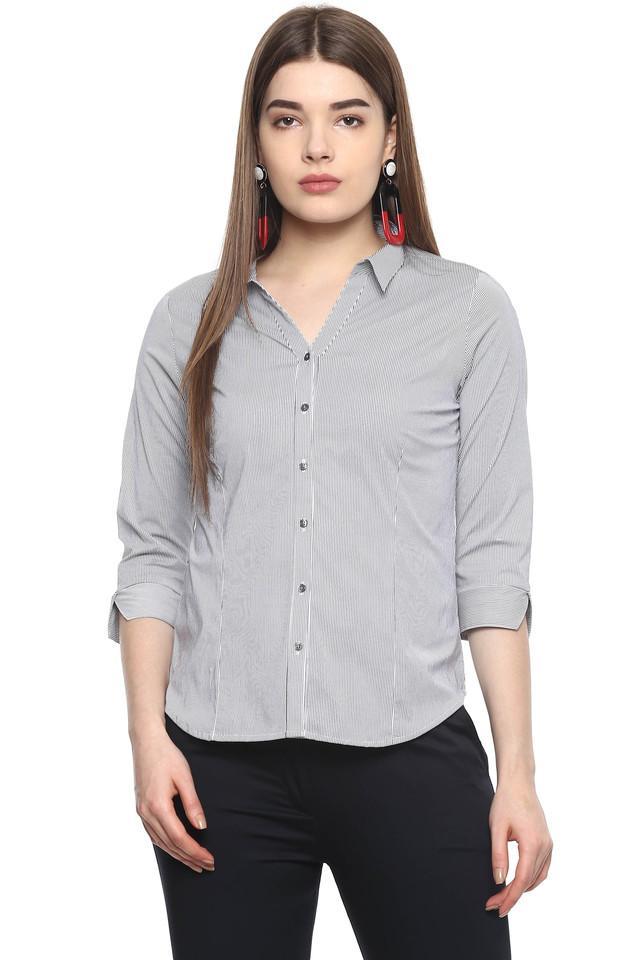 Womens Striped Formal Shirt