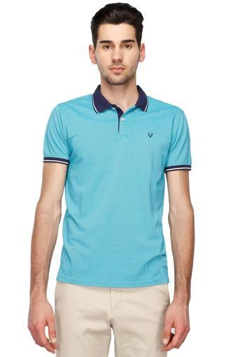 ca99acc1 Buy ALLEN SOLLY Mens Solid Polo T-Shirt | Shoppers Stop