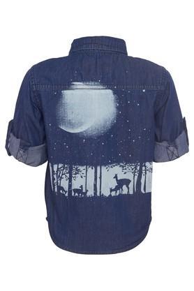 Boys Patch Casual Shirt