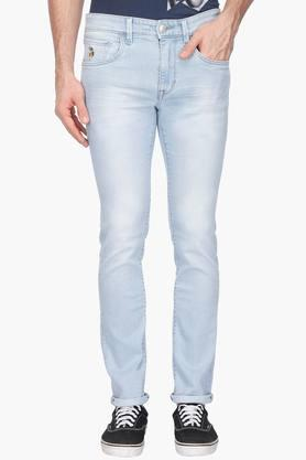 U.S. POLO ASSN. DENIMMens Skinny Fit Mild Wash Jeans (Regallo Fit)