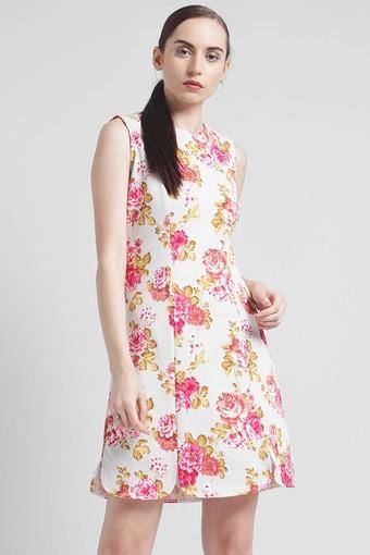 1c3dbe02994 Buy ZINK LONDON Womens Round Neck Printed Shift Dress