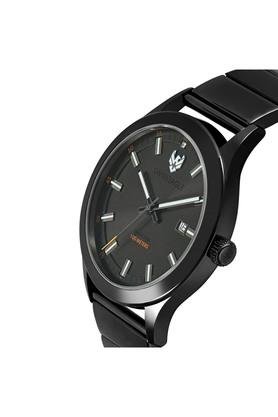 Mens Black Dial Analogue Watch