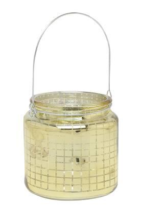 IVYRound Printed Votive With Electroplating - 204160590_9417