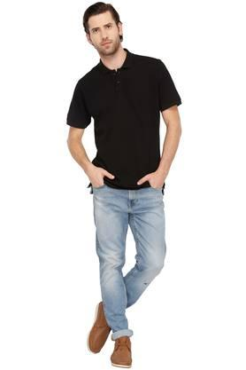 STOP - Black T-Shirts & Polos - 3