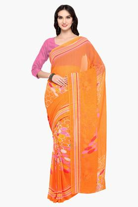 DEMARCA Womens Faux Georgette Printed Saree - 203229608