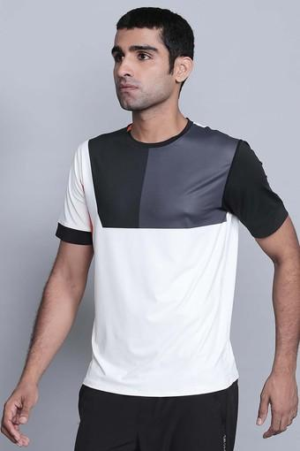 f8837a2f392 Mens Round Neck Colour Block T-Shirts