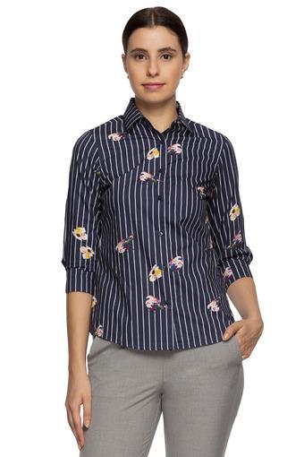 Womens Collared Stripe Shirt