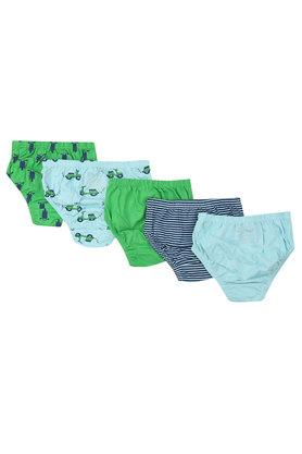 Boys Solid Printed and Stripe Briefs Pack of 5