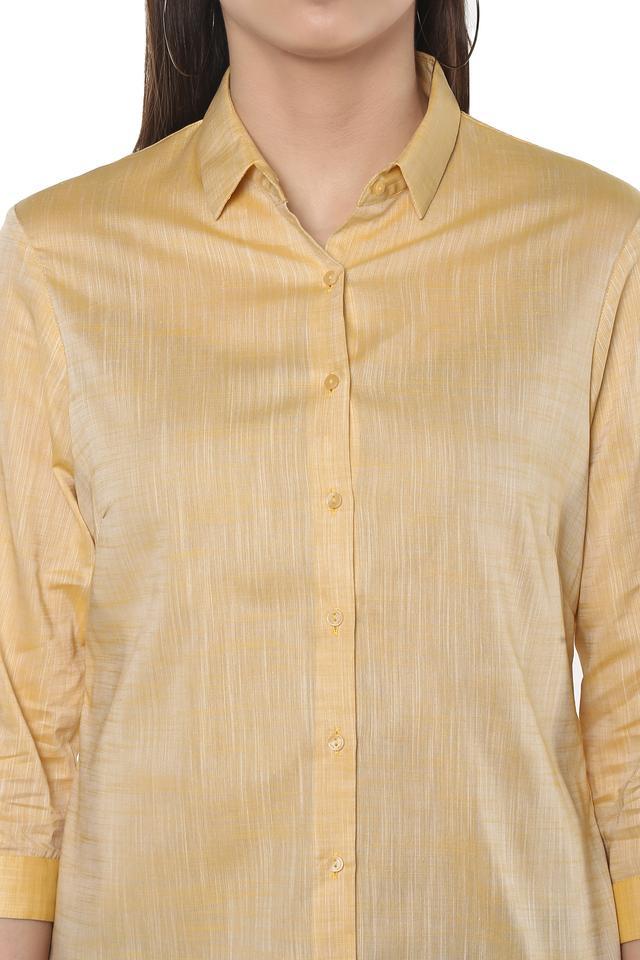 Womens Slub Casual Shirt