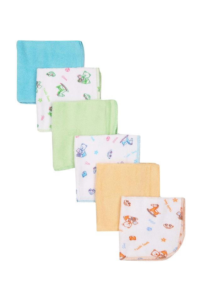 Kids Printed and Solid Napkin - Pack Of 6