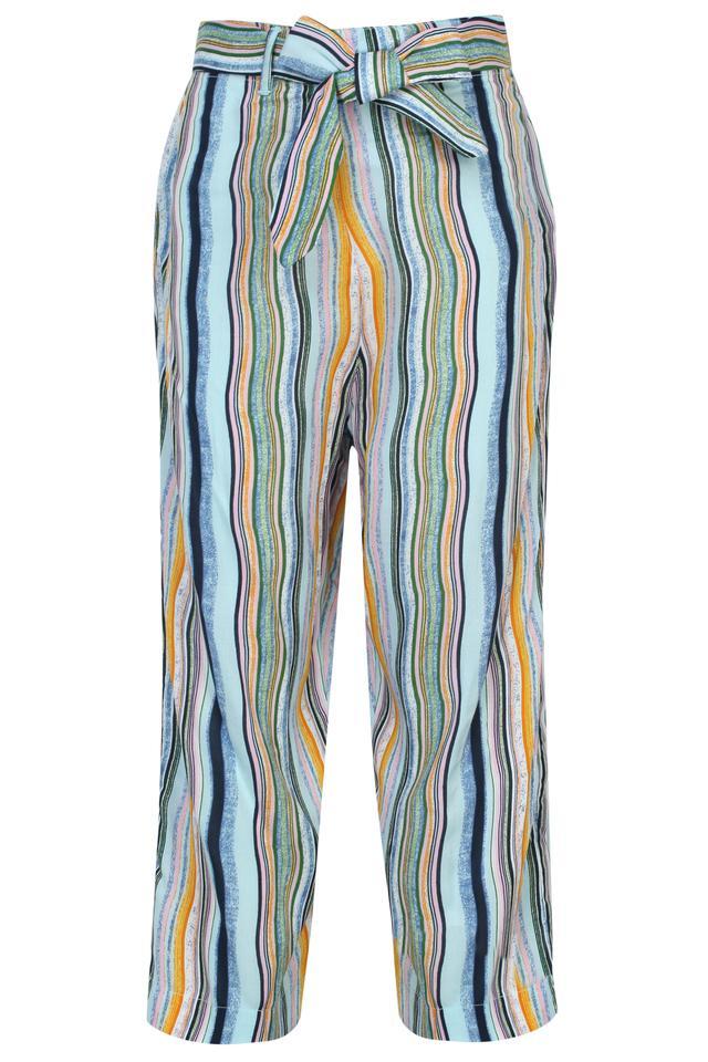 Girls Off Shoulder Neck Solid Top and Striped Pants Set