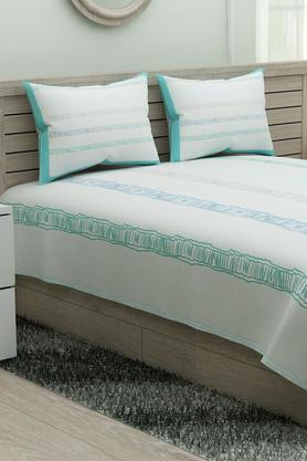 Ruffle Stripe Duvet Cover with 2 Pillow Covers
