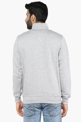 Mens High Neck Graphic Print Sweatshirt