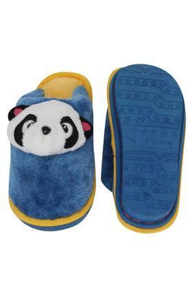 Unisex Solid Panda Motif Bath Slippers