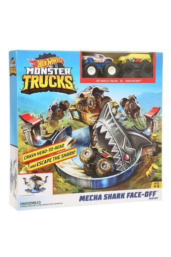 Unisex Monster Trucks Mecha Shark Face-Off Playset