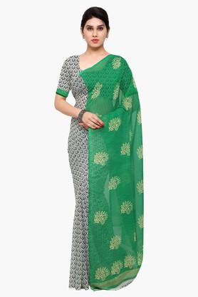 DEMARCA Womens Faux Georgette Printed Saree - 203229597