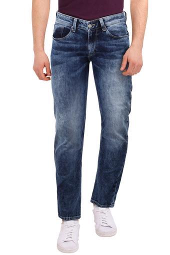 Mens Skinny Fit Acid Wash Jeans