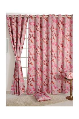 Leaf Printed Window Curtain