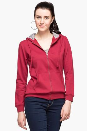 PARK AVENUE Womens Front Pocket Hooded Sweatshirt
