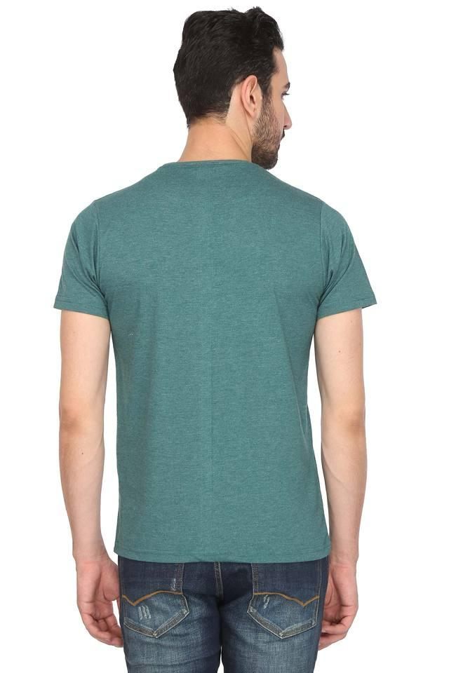 Mens Round Neck Solid T-Shirt Pack of 3