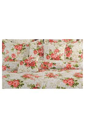 Floral Single Bed Sheet with 1 Pillow Cover